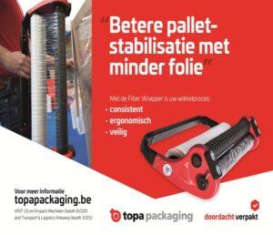 Topa Packaging lanceert vindingrijke manier van pallets wikkelen