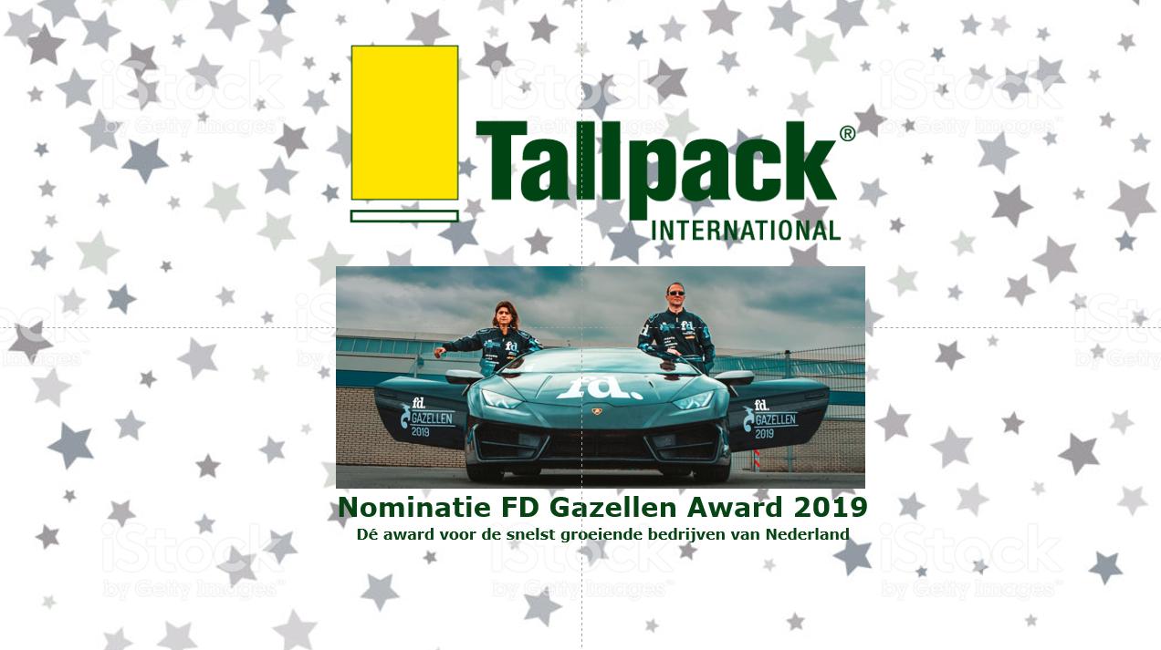 Tallpack FD Gazellen Award 2019