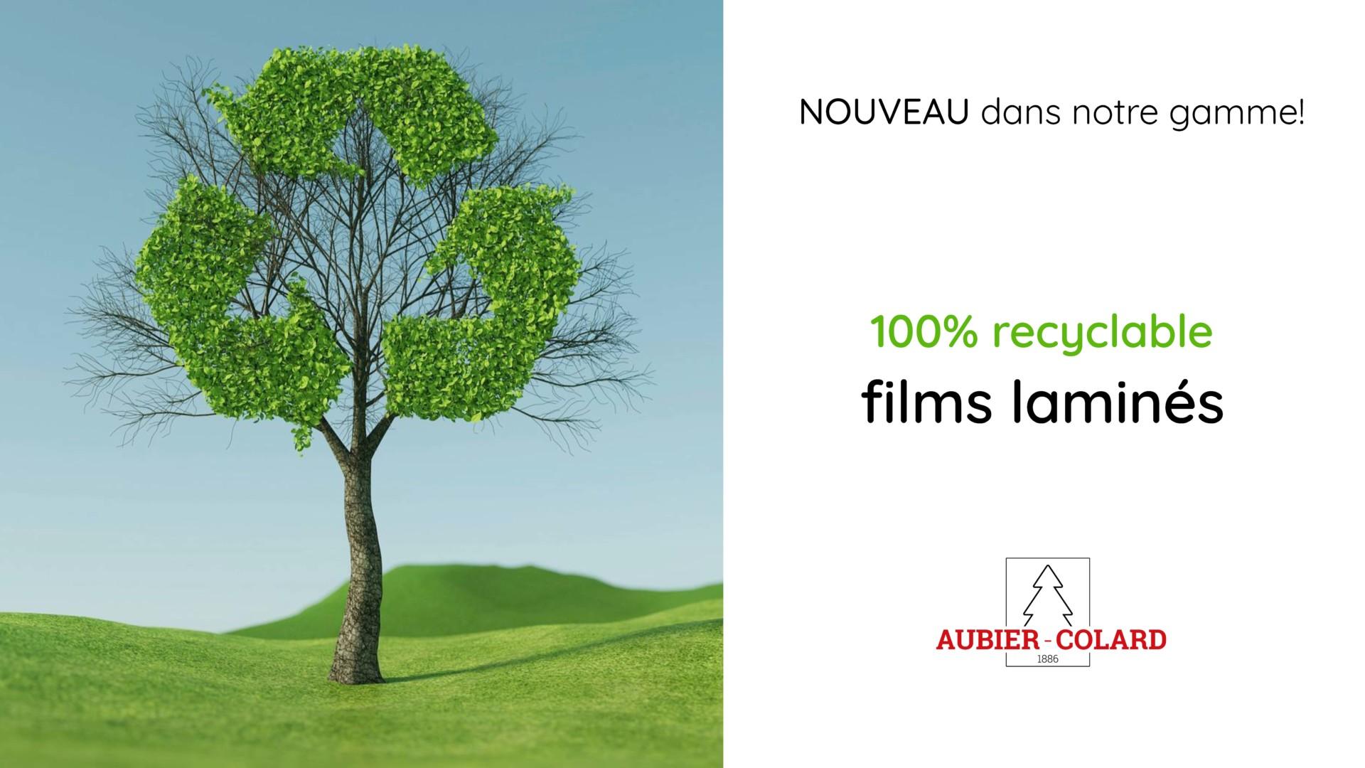 100% Recyclabe films laminés