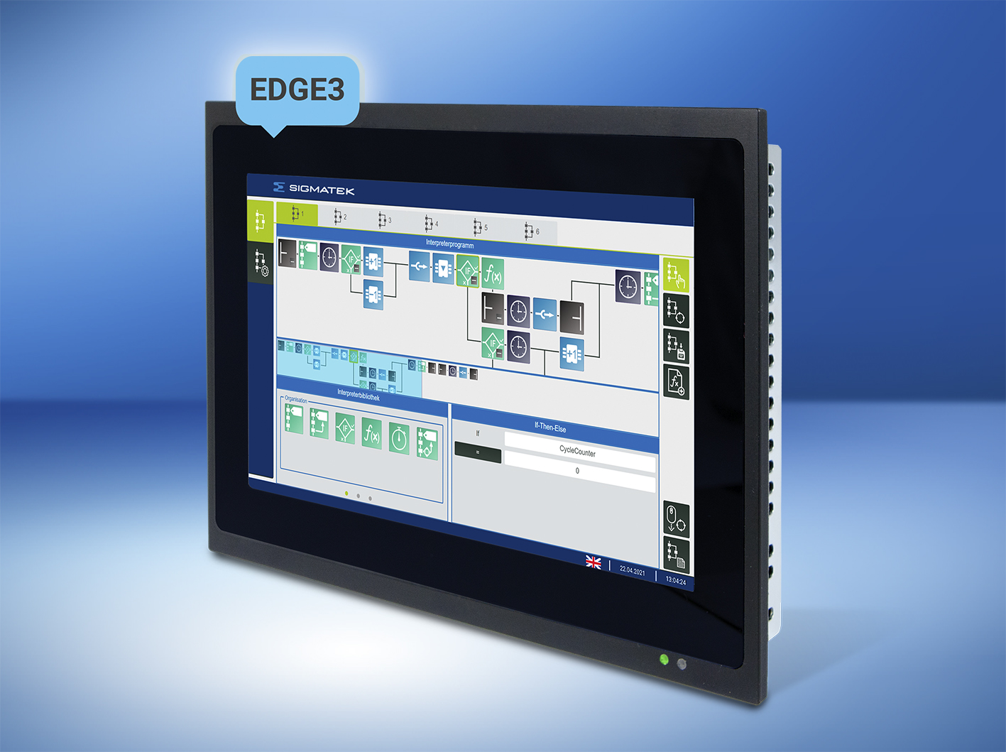 7-inch multi-touch panel for web visualization