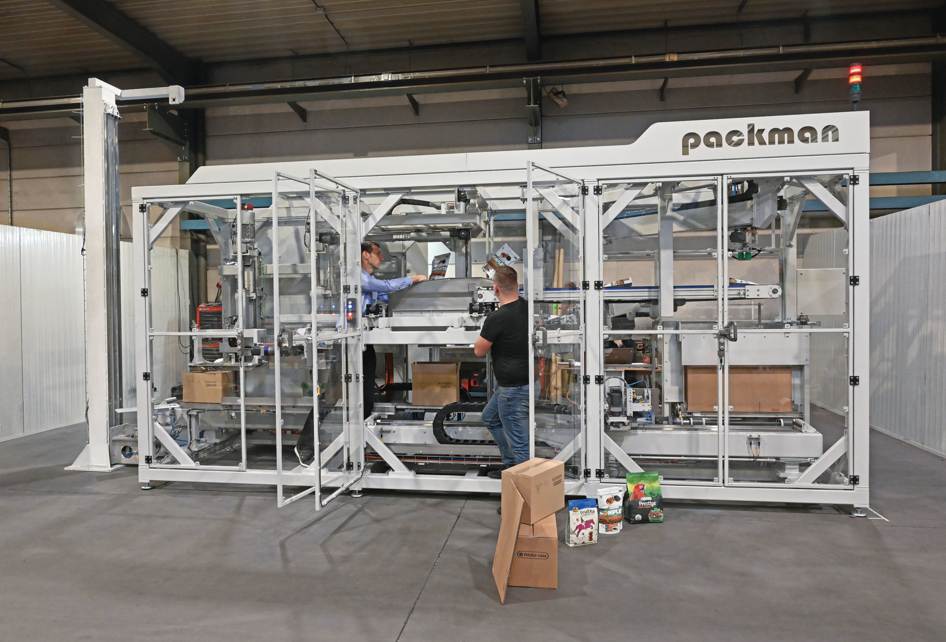 Casepacker Packman voor Versele-Laga