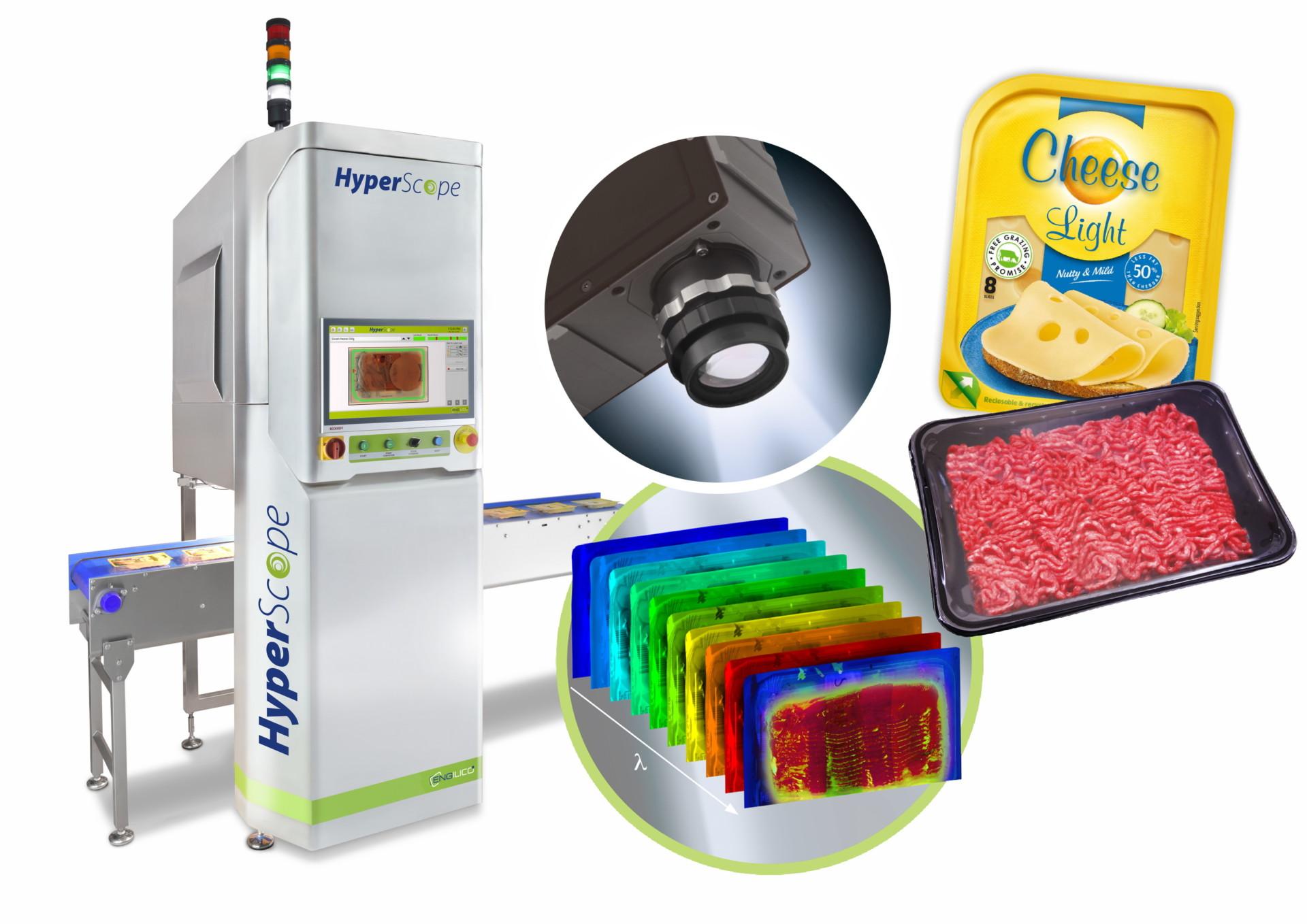 Innovatieve hyperspectraal-beeldtechnologie detecteert contaminaties door bedrukte folies van plastic en kartonnen schaaltjes