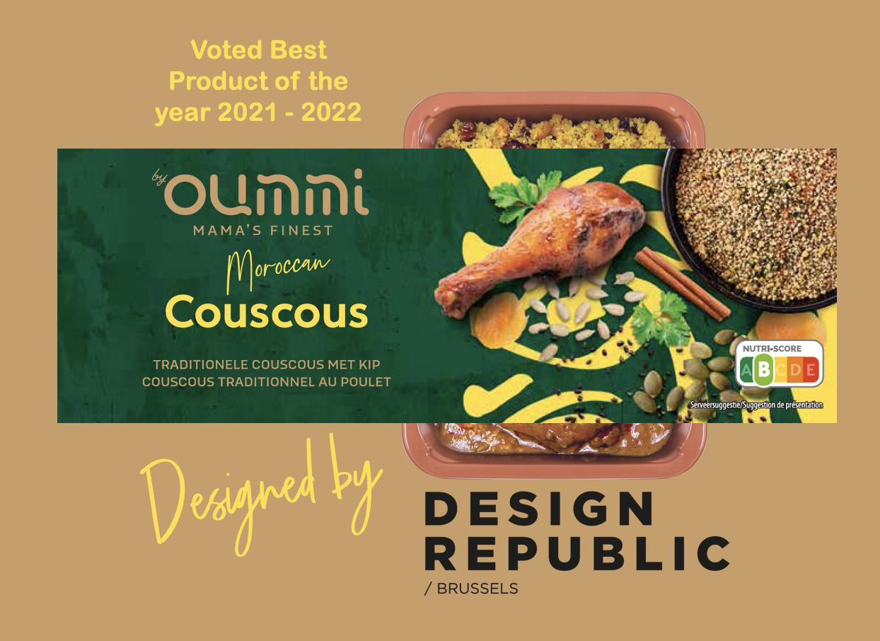 By Oummi couscous 'Beste Product van het jaar 21-22, designed door DesignRepublic
