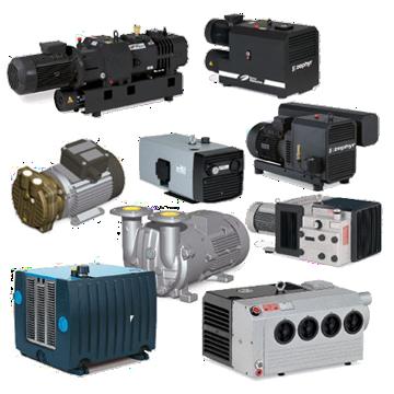 Vacuum pompen en lage druk compressoren